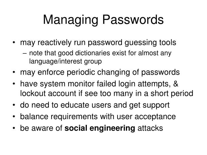 Managing Passwords