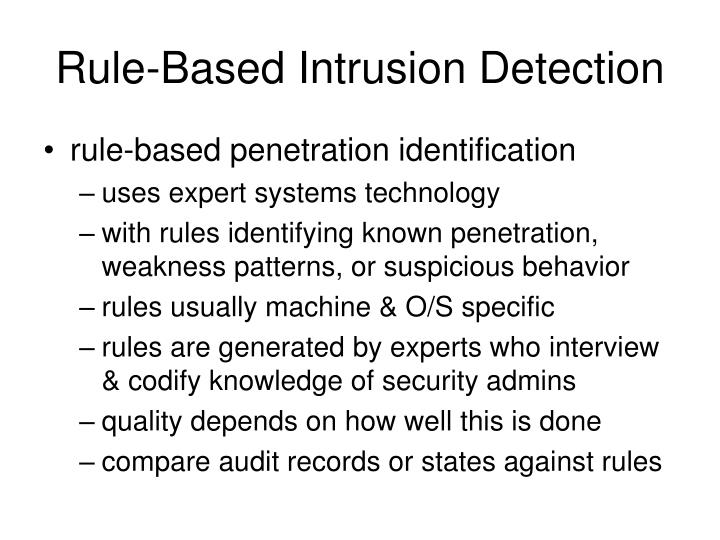 Rule-Based Intrusion Detection