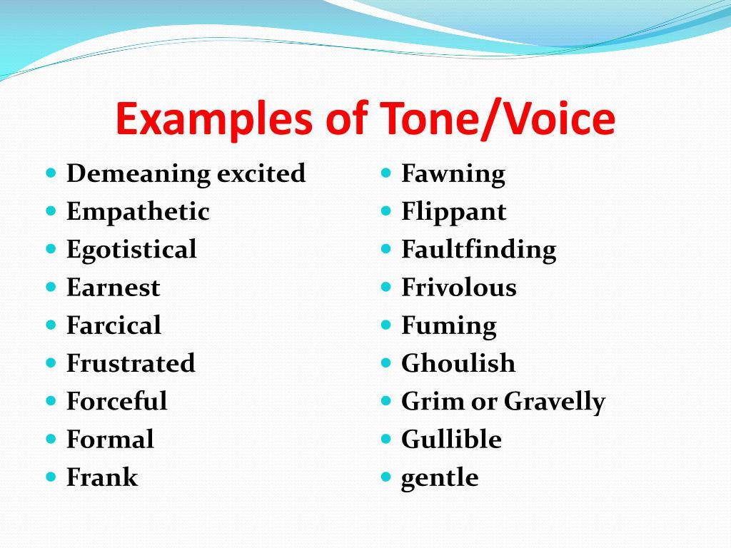 PPT - Tone/Voice PowerPoint Presentation - ID:1360751