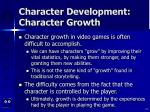 character development character growth