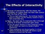 the effects of interactivity