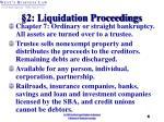 2 liquidation proceedings