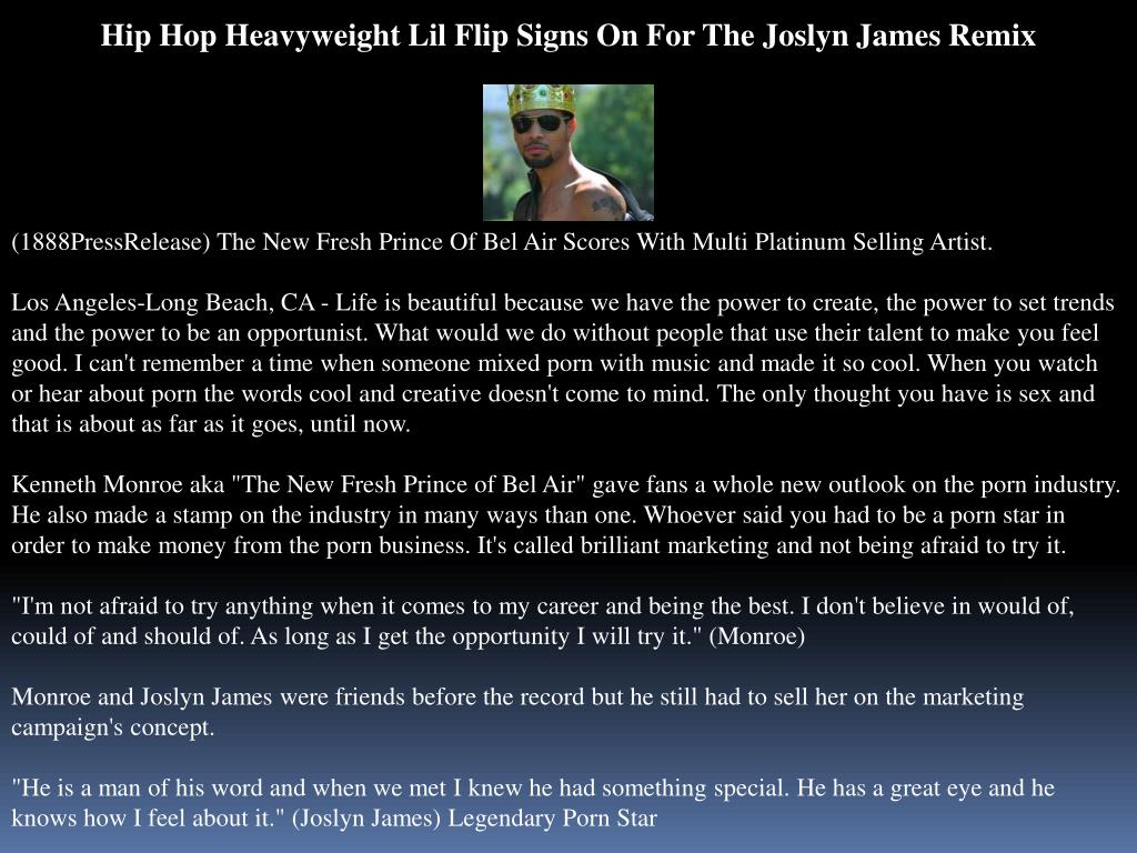 Hip Hop Heavyweight Lil Flip Signs On For The Joslyn James Remix