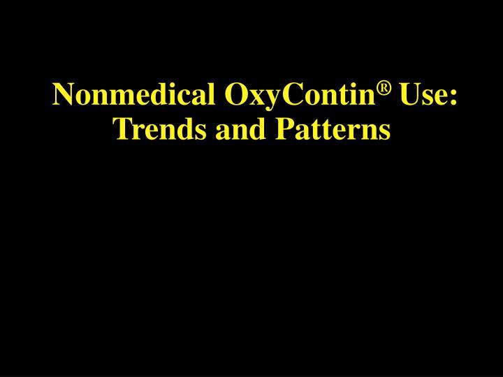 Nonmedical OxyContin