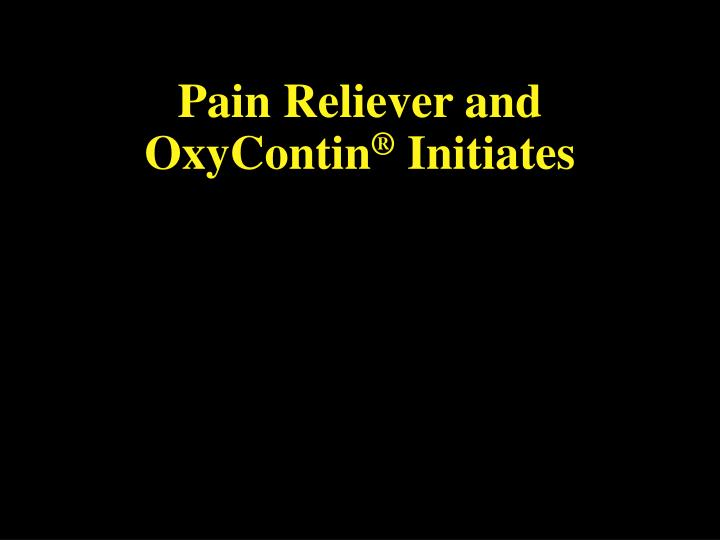 Pain Reliever and  OxyContin