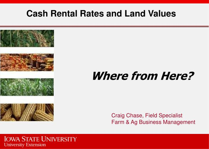 cash rental rates and land values n.