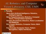 ai robotics and computer vision laboratory cse umn