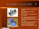 scout 2001 vs scout 1999