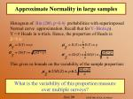 approximate normality in large samples29