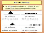 bias and precision38