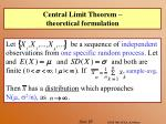 central limit theorem theoretical formulation