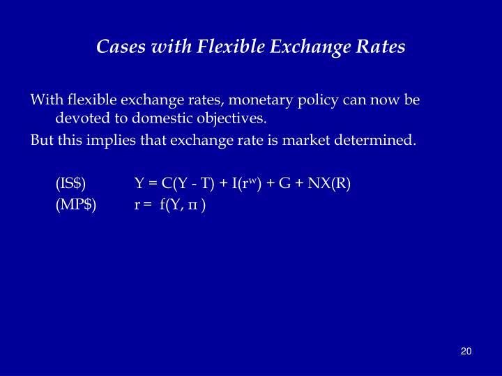 Cases with Flexible Exchange Rates