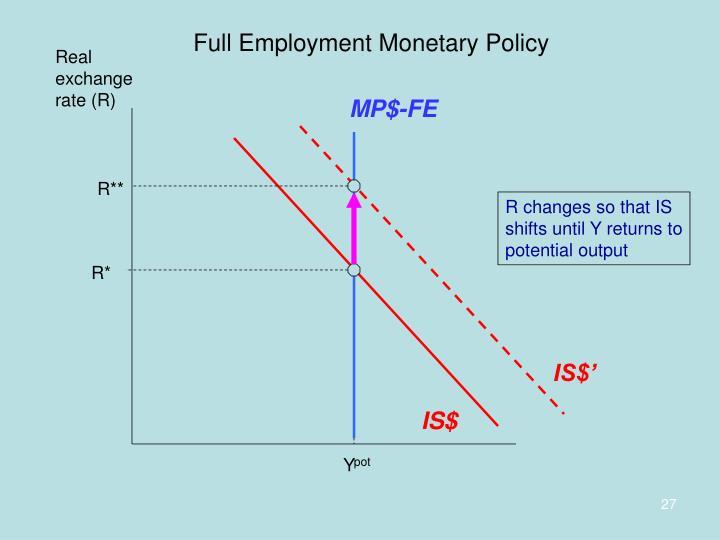 Full Employment Monetary Policy