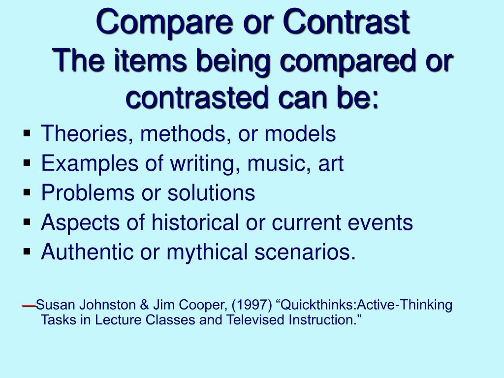 Compare or Contrast