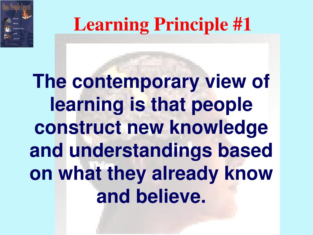 Learning Principle #1