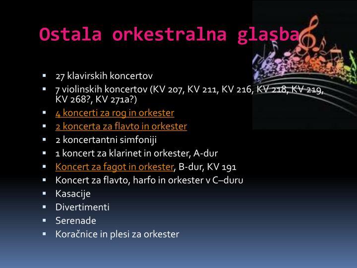 Ostala orkestralna glasba