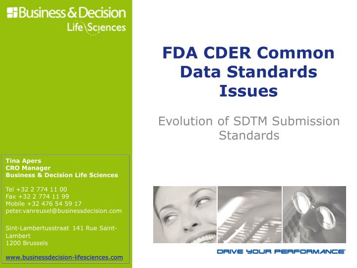 Evolution of sdtm submission standards