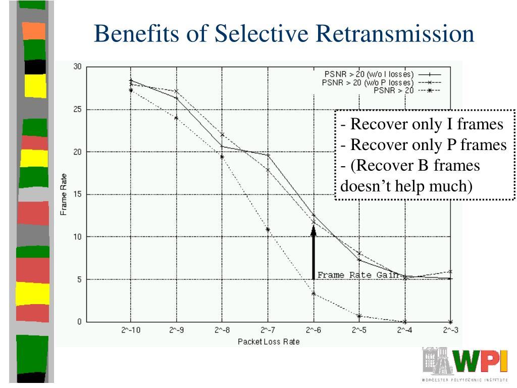 Benefits of Selective Retransmission