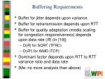 buffering requirements