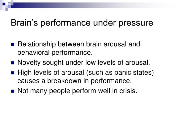 what is the relationship between arousal and behavior