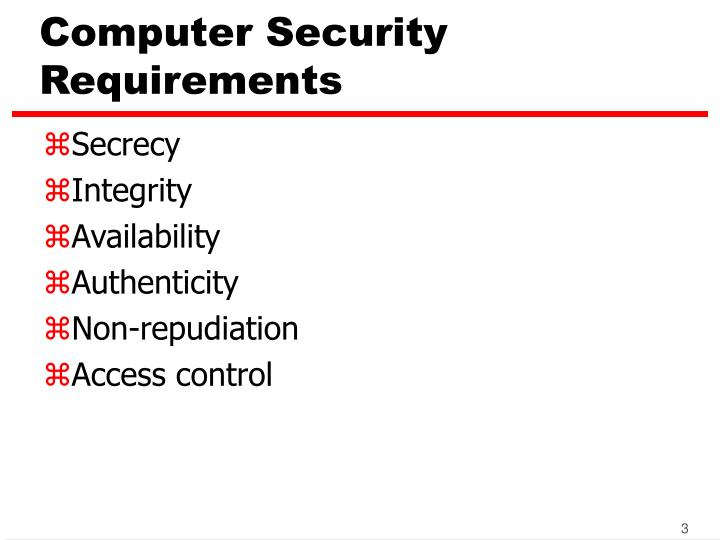 Computer security requirements