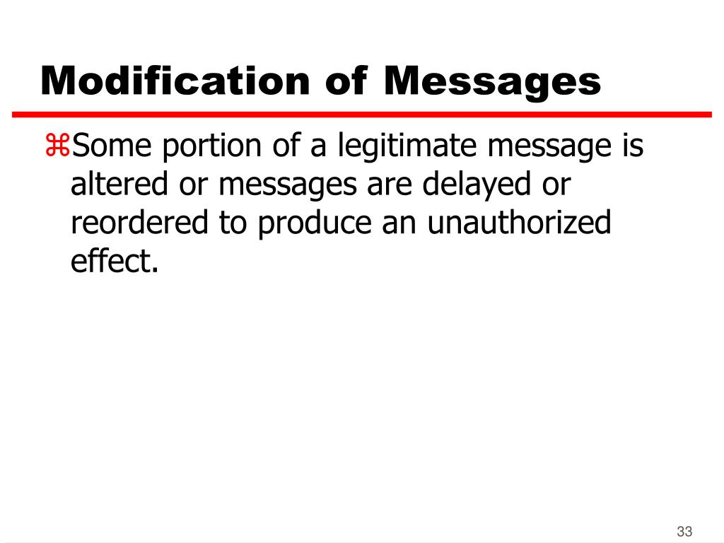 Modification of Messages