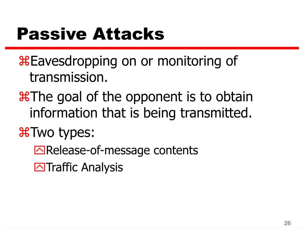 Passive Attacks