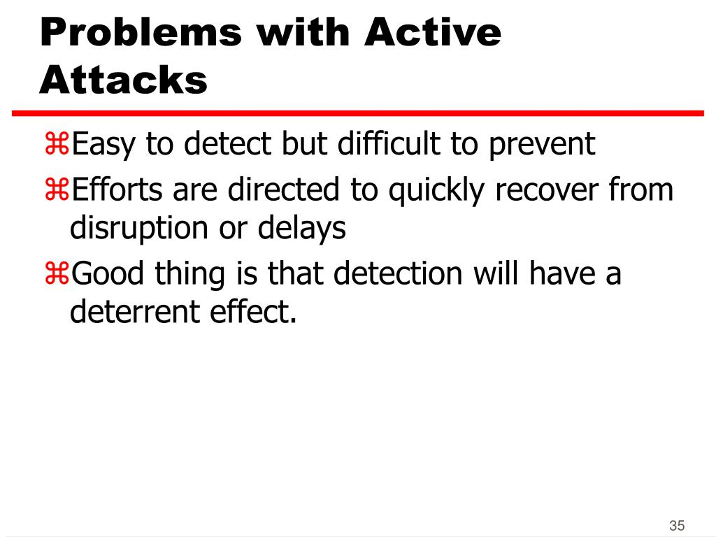 Problems with Active Attacks