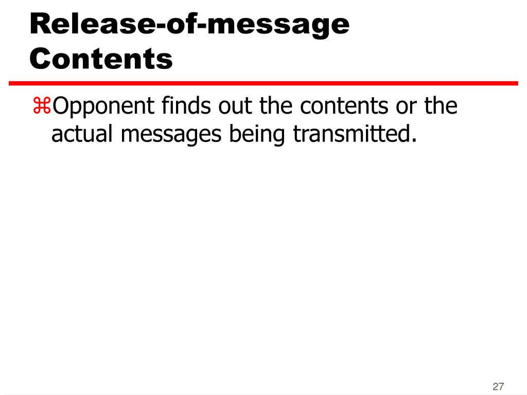 Release-of-message Contents