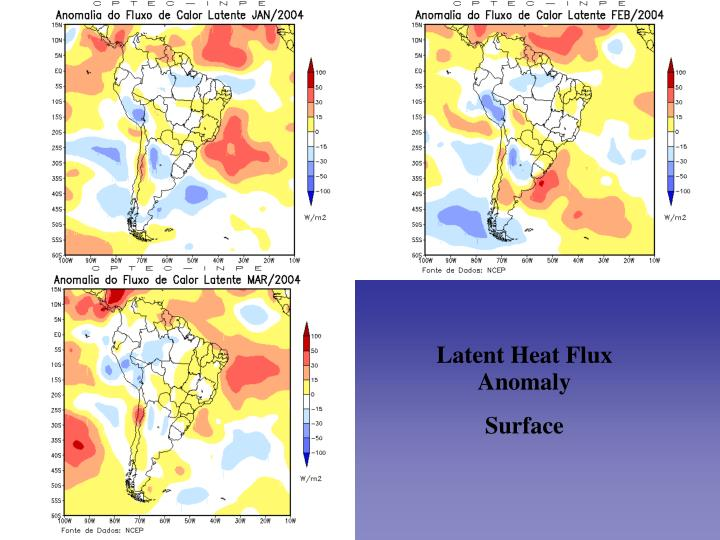 Latent Heat Flux Anomaly