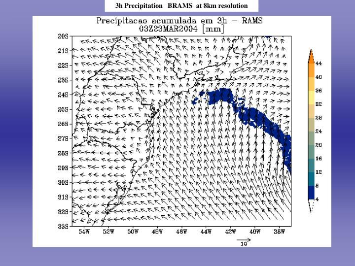 3h Precipitation   BRAMS  at 8km resolution