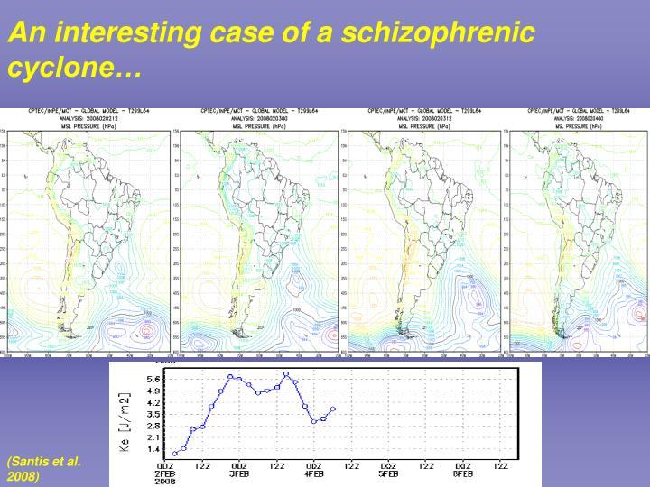 An interesting case of a schizophrenic cyclone…