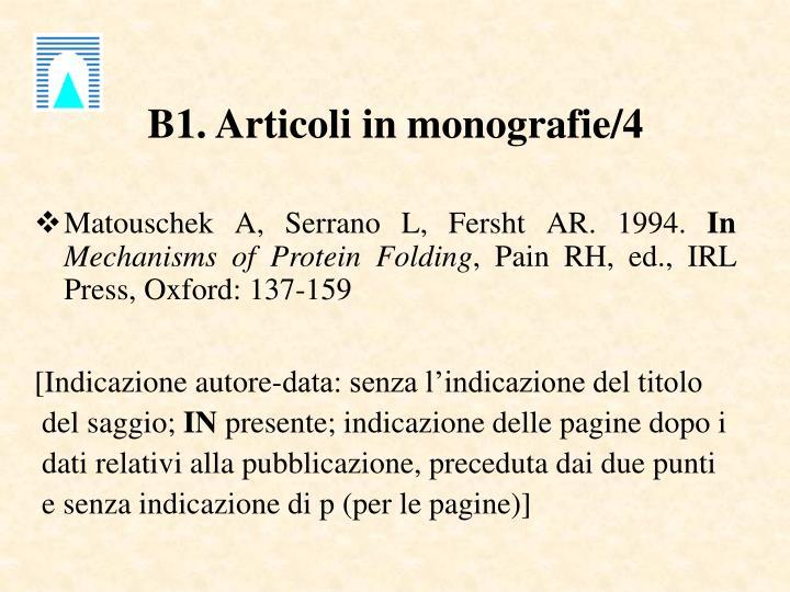 B1. Articoli in monografie/4