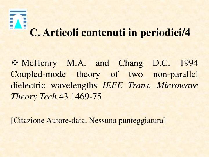 C. Articoli contenuti in periodici/4