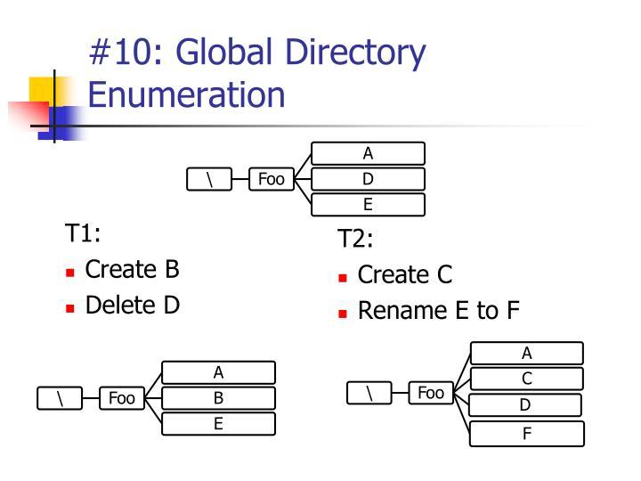 #10: Global Directory Enumeration