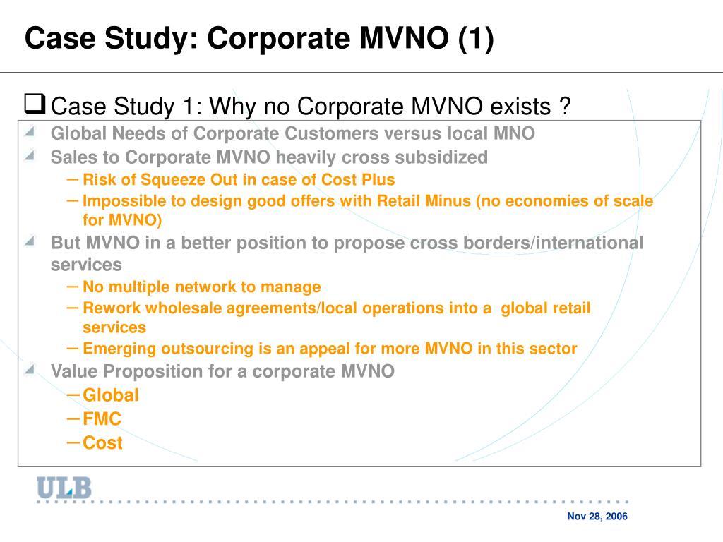 Case Study: Corporate MVNO (1)