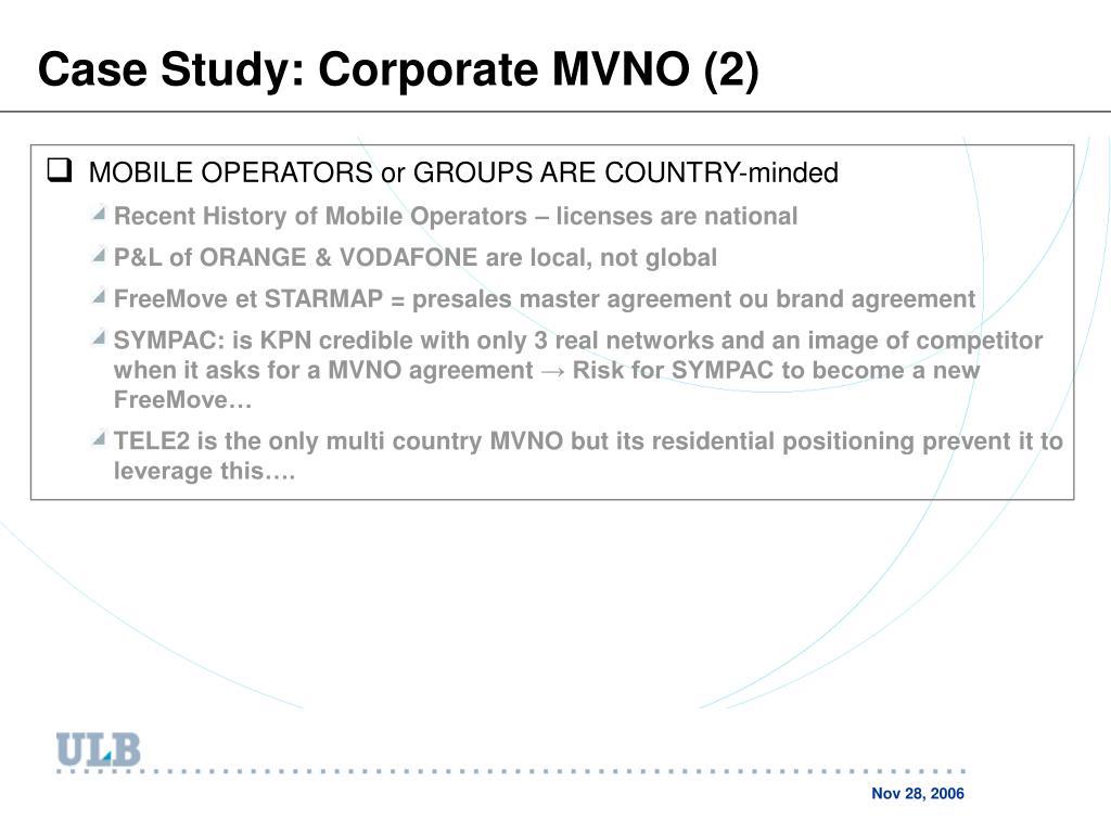 Case Study: Corporate MVNO (2)