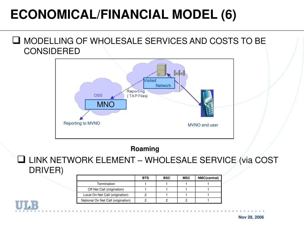 ECONOMICAL/FINANCIAL MODEL (6)