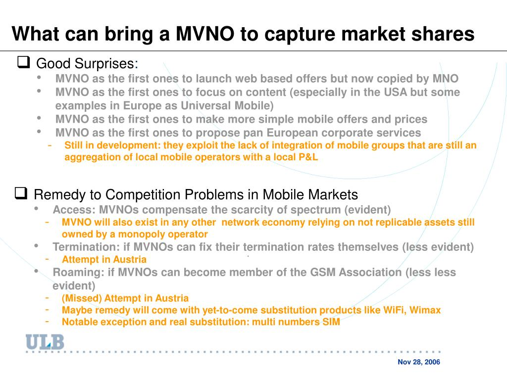 What can bring a MVNO to capture market shares