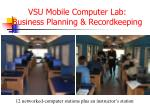 vsu mobile computer lab business planning recordkeeping
