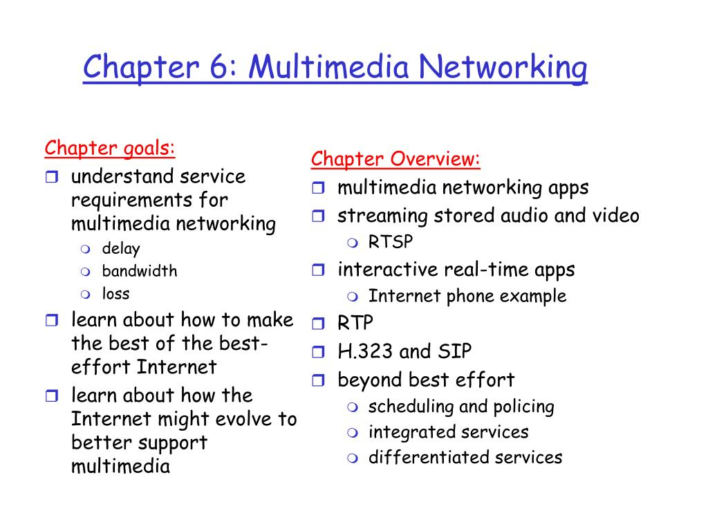 chapter 6 multimedia networking l.