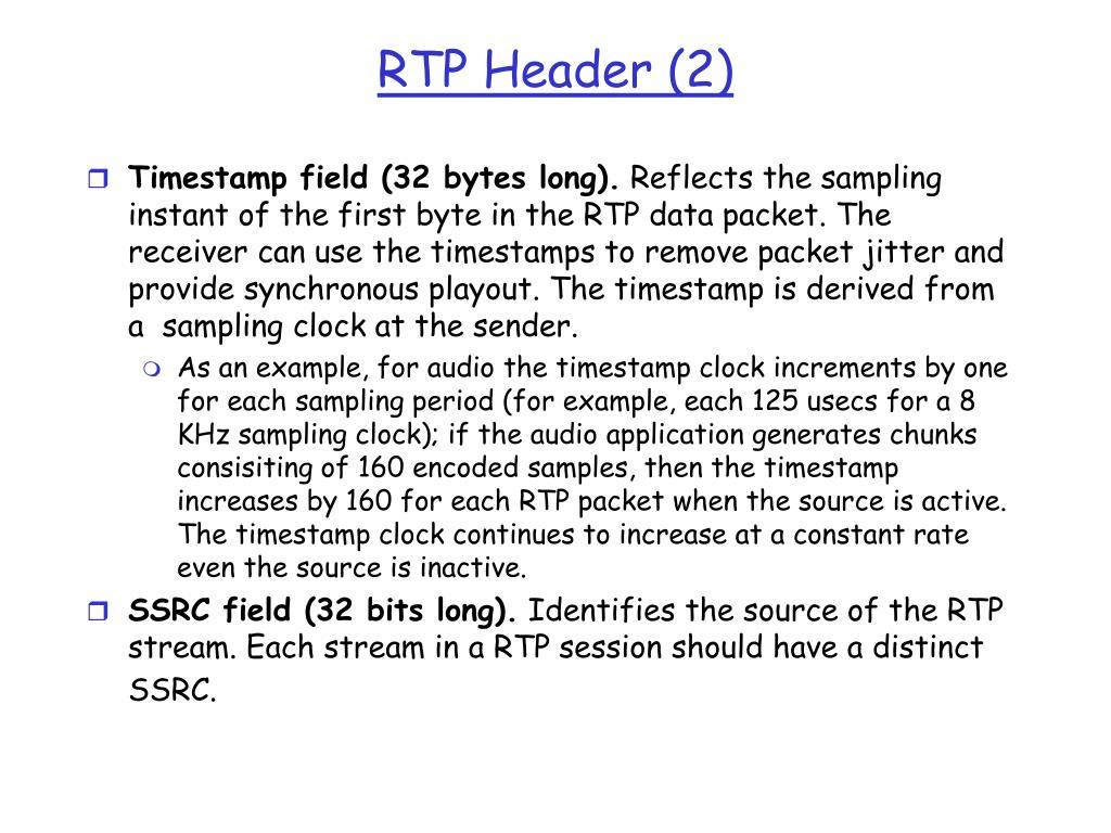 Timestamp field (32 bytes long).