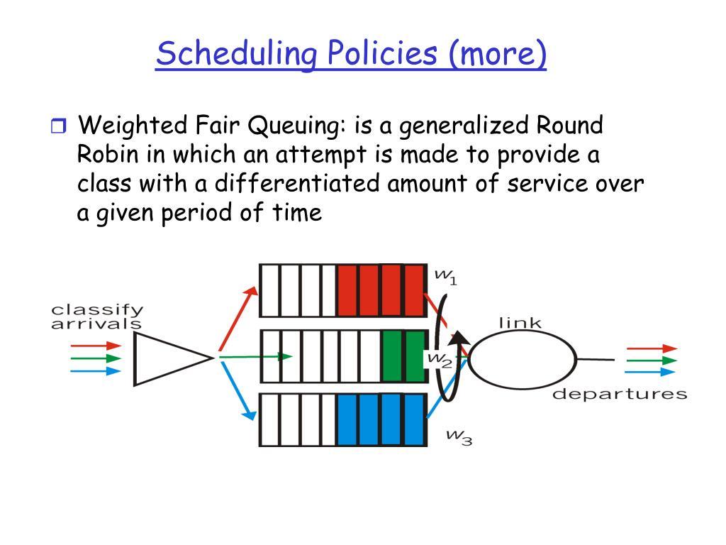 Scheduling Policies (more)