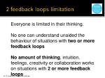2 feedback loops limitation