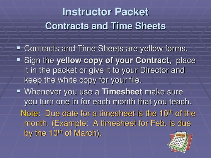 Instructor Packet