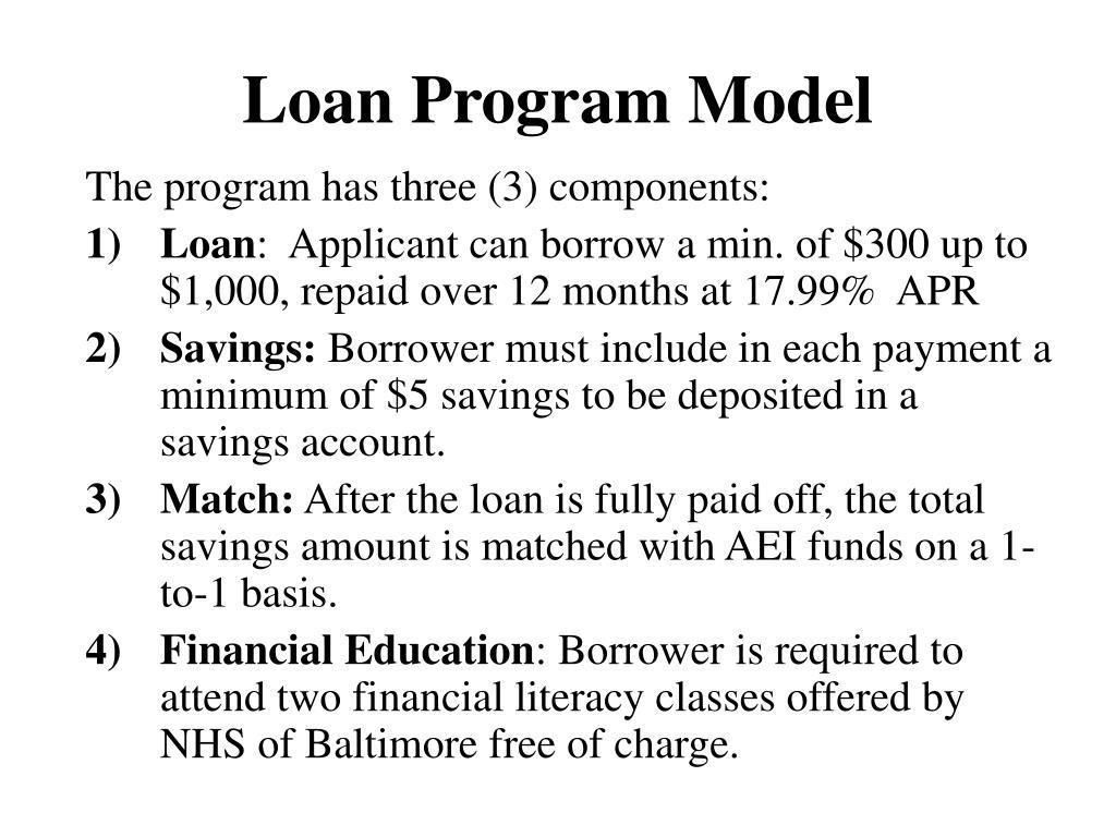 Loan Program Model