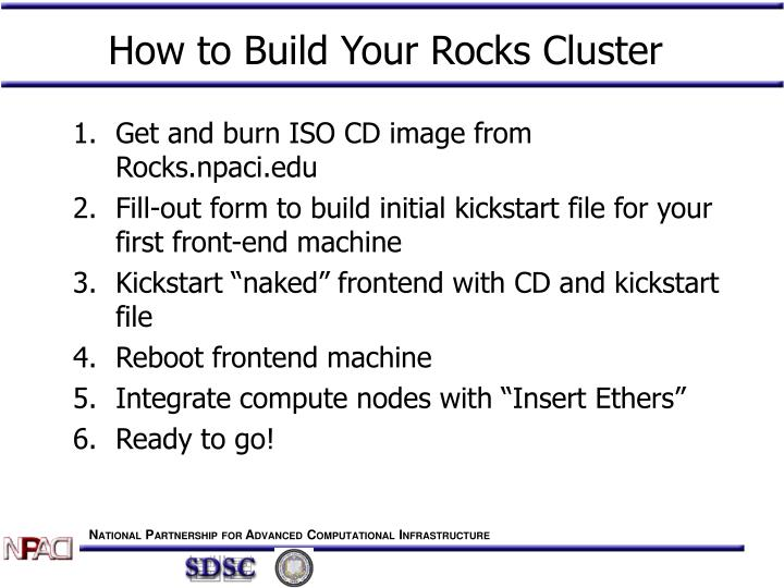 How to Build Your Rocks Cluster