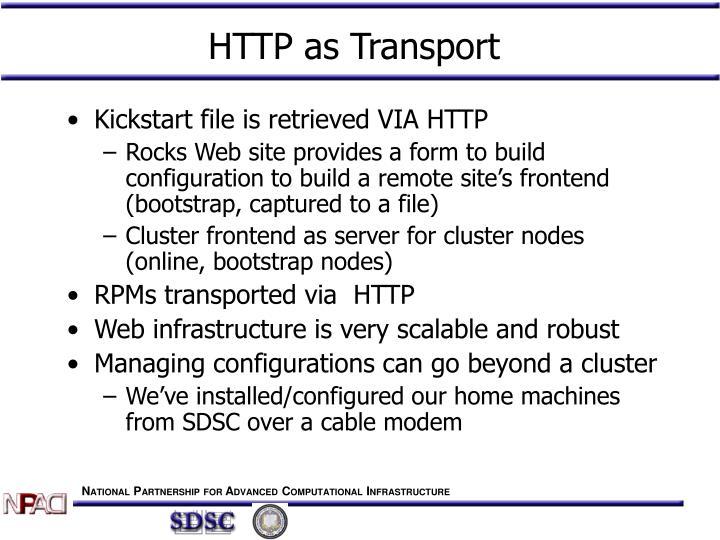 HTTP as Transport