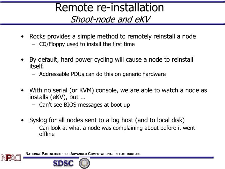 Remote re-installation