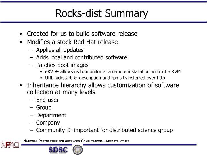 Rocks-dist Summary
